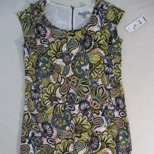 NY Collection Women Dress M Multicolor